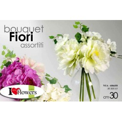 FIORI ARTIFICIALI MAZZOLINO BOUQUET FLOWERS 30 CM COLORI ASSORTITI NYA-686658