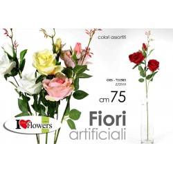 FIORI ARTIFICIALI ROSE 75 CM COLORI ASSORTITI OIS-711503