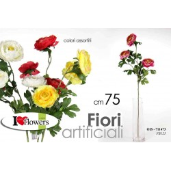 FIORI ARTIFICIALI FLOWERS 75 CM COLORI ASSORTITI OIS-711473