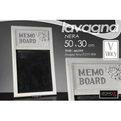 LAVAGNA IN LEGNO FONDO NERO DECORATA ROSE MEMO BOARD 50*30 CM TOD-662355