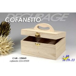 DECOUPAGE COFANETTO IN LEGNO DA DECORARE 19*13*10H CM CAR-158049