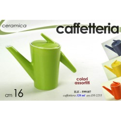 CAFFETTIERA COLORATA IN CERAMICA 16 CM 320ML COLORI ASSORTITI ILE-599187
