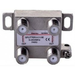 PARTITORE DIVISORE SPLITTER 3 VIE 3 OUT 1 IN SPACE DIGITAL
