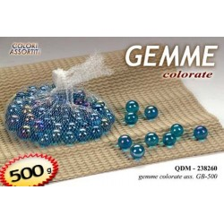 PIETRE GEMME  DECORATIVE COLORATE 500 g COLORI ASSORTITI QDM-238260