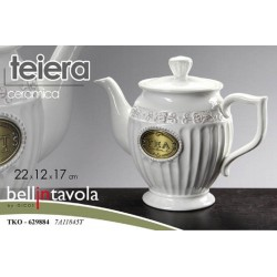 TEIERA  IN CERAMICA DECORATA 22*12*17CM TKO-629884