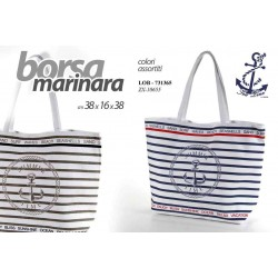 BORSA MARINARA 38*16*38 CM COLORI ASSORTITI LOB-731365