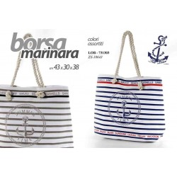 BORSA MARINARA 43*30*38 CM COLORI ASSORTITI LOB-731303
