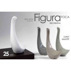 FIGURA DECORATIVA STATUETTA FOCA 25CM COLORI ASSORTITI OXO-687785
