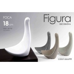 FIGURA DECORATIVA STATUETTA FOCA 18 CM COLORI ASSORTITI OXO-687792