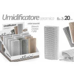 UMIDIFICATORE AMBIENTE IN CERAMICA 8.5*3*20 CM COLORI ASSORTITI CRE-722578