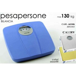 BILANCIA PESAPERSONE ANALOGICA COLORI ASSORTITI MAX 130 KG CAM-665486