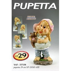 FIGURA DECORATIVA PUPETTA H29 CM DECORI ASSORTITI YAF-337130