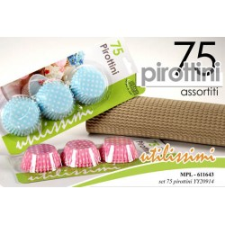 75 PIROTTINI ASSORTITI COLORI ASSORTITI  DECORO POIS 4.5CM UTILISSIMI MPL-611643