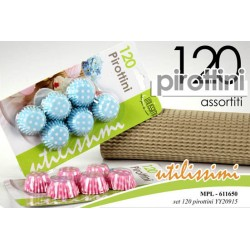 120 PIROTTINI ASSORTITI COL. ASSORTITI  DECORO POIS 2.8 CM UTILISSIMI MPL-611650