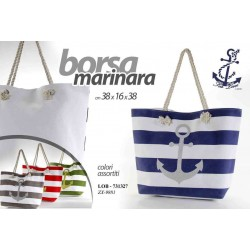 BORSA MARINARA 38*16*38 CM COLORI ASSORTITI LOB-731327