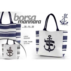 BORSA MARINARA 38*16*38 CM COLORI ASSORTITI LOB-731259