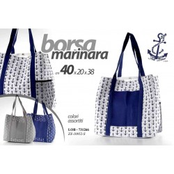 BORSA MARINARA 40*20*38 CM COLORI ASSORTITI LOB-731266
