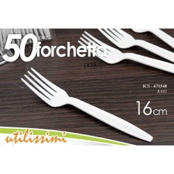 SET 50 PZ FORCHETTE POSATE IN PLASTICA 16CM WSI-671548
