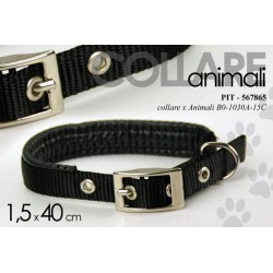 COLLARE PER ANIMALI 1,5*40 CM CANE GATTO COLORI ASSORTITI PIT-567865