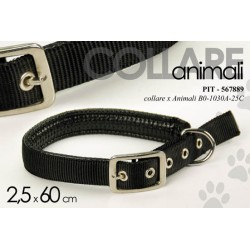 COLLARE PER ANIMALI 2,5*60 CM CANE GATTO COLORI ASSORTITI PIT-567889