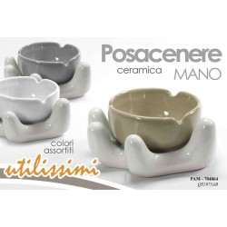POSACENERE IN CERAMICA COLOR MANO 13 CM COLORI ASSORTITI PAM-704864