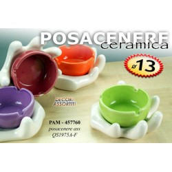 POSACENERE IN CERAMICA MANO COLOR 13 CM COLORI ASSORTITI PAM-457760