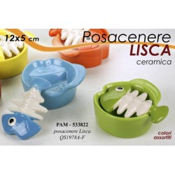 POSACENERE IN CERAMICA LISCA COLOR 12*5 CM COLORI ASSORTITI PAM-533822